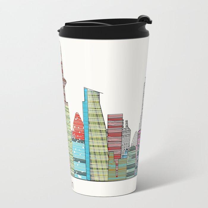 London city skyline  Metal Travel Mug