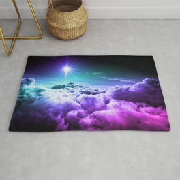 Cool Tone Ombre Clouds Rug