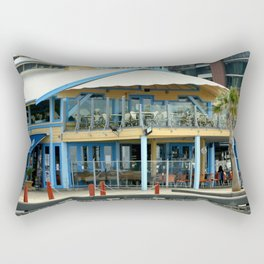 The blue Restaurant Rectangular Pillow