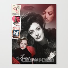 Joan Crawford Collage Portrait Canvas Print