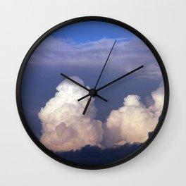 Cloud towers in the Sky -  cumulonimbus Wall Clock