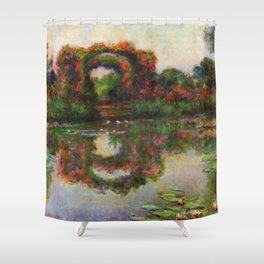 "Claude Monet ""Rose Arches at Giverny"" Shower Curtain"