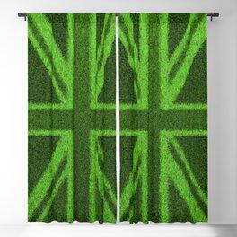 Grass Britain / 3D render of British flag grown from grass Blackout Curtain