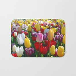 Colorful Springtime Tulips in the Netherlands Bath Mat