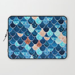 REALLY MERMAID BLUE & GOLD Laptop Sleeve