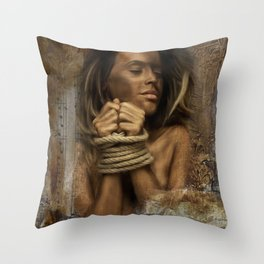 Vintage bounded Throw Pillow