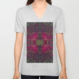The Chalice- Magenta and Gold Bohemian  Unisex V-Neck