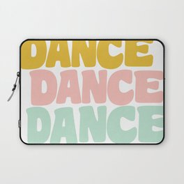 Dance in Candy Pastel Lettering Laptop Sleeve