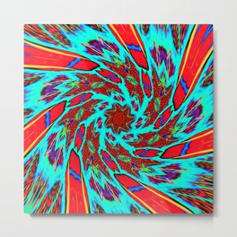 Electric Wonder Whirl Metal Print