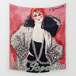 Old Sign - Elvire Popesco Wall Tapestry