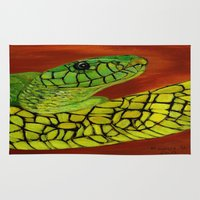 snake Area & Throw Rugs featuring Snake by maggs326