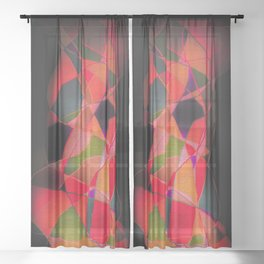 Abstract Form Sheer Curtain