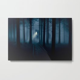 Creepy house Metal Print