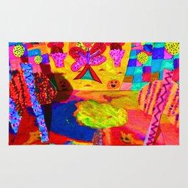 Colorful Feast | Kids Painting Rug