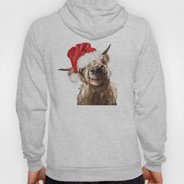 Christmas Highland Cow Hoody