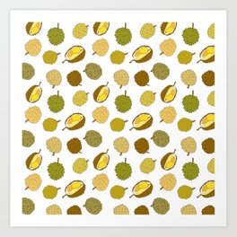 Durian Fruit Art Print