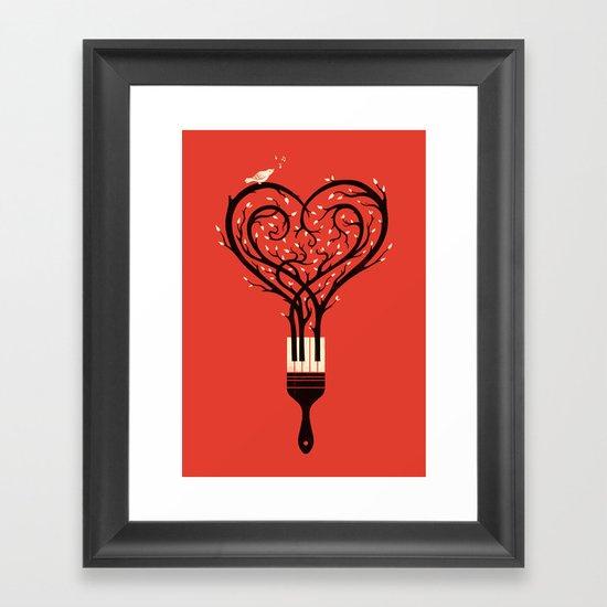 Paint Your Love Song Framed Art Print
