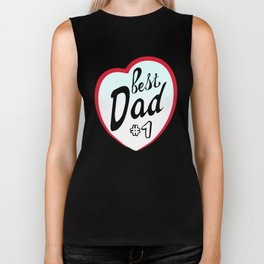 Best dad on father's day. Dad  number one Biker Tank