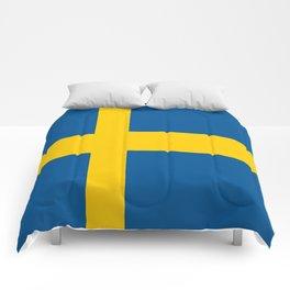 Flag of Sweden Comforters