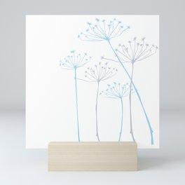Dandelion Flower Plant Pattern Mini Art Print