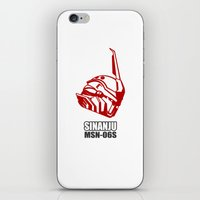 gundam iPhone & iPod Skins featuring Mobile Suit Gundam Unicorn - Sinanju by Nanico