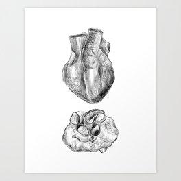 Heart Drawing Art Print