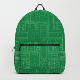 Sport Courts Pattern Art Backpack