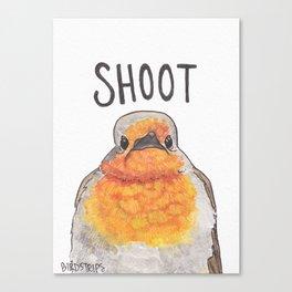 Bird no. 306: Shoot Canvas Print