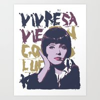 godard Art Prints featuring Vivre sa vie by Ruben Pino