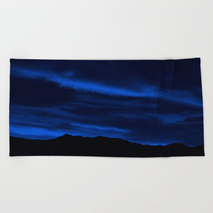 SW Midnight Blue Morning Beach Towel