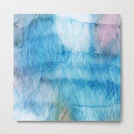 Crumpled Paper Textures Colorful P 510 Metal Print