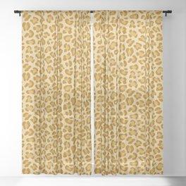 Leopard - Spicy Mustard Sheer Curtain