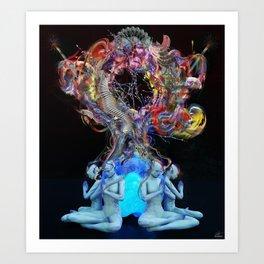 Synchromystics Art Print