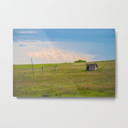 Outhouse/Playground, Palmgren Township School, North Dakota Metal Print