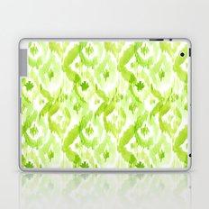 Citron Green Ikat Diamonds Laptop & iPad Skin