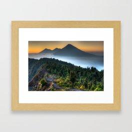Volcanic Sunset Framed Art Print
