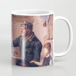 The Card Players 1853 By Eastman Johnson | Reproduction Coffee Mug