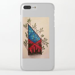 Red Tent Rune Clear iPhone Case