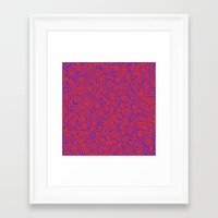 friday Framed Art Prints featuring Friday by Bunyip Designs