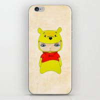 pooh iPhone & iPod Skins featuring A Boy - Winnie-the-Pooh by Christophe Chiozzi