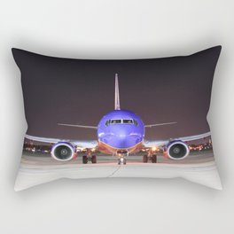 Face To Face with a Southwest Airlines Boeing 737-700 Rectangular Pillow