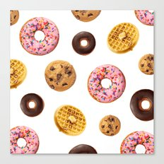 Donuts and Junk Canvas Print