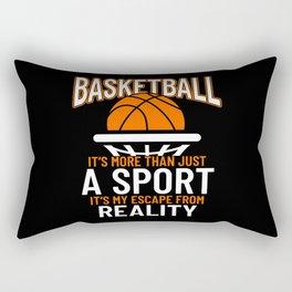 Basketball More Than Just Sport Rectangular Pillow