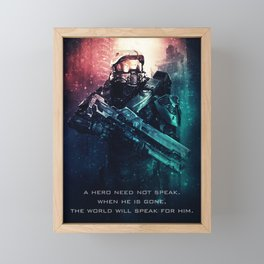 Master Chief Framed Mini Art Print