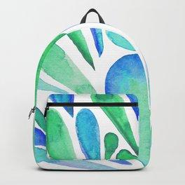 Watercolor artistic drops - aqua and blue Backpack