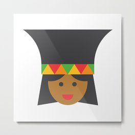 a zulú woman Metal Print