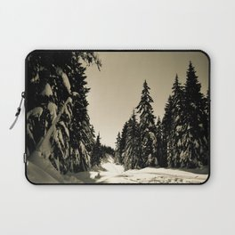 Snow Day Cypress Mountain BC Canada Laptop Sleeve