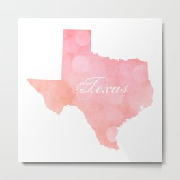 Texas Pink and Coral Bokeh Metal Print