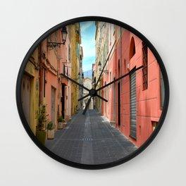 Sunday In Menton Wall Clock