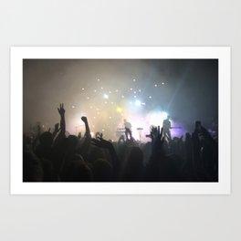 Concert Lights 1 Art Print